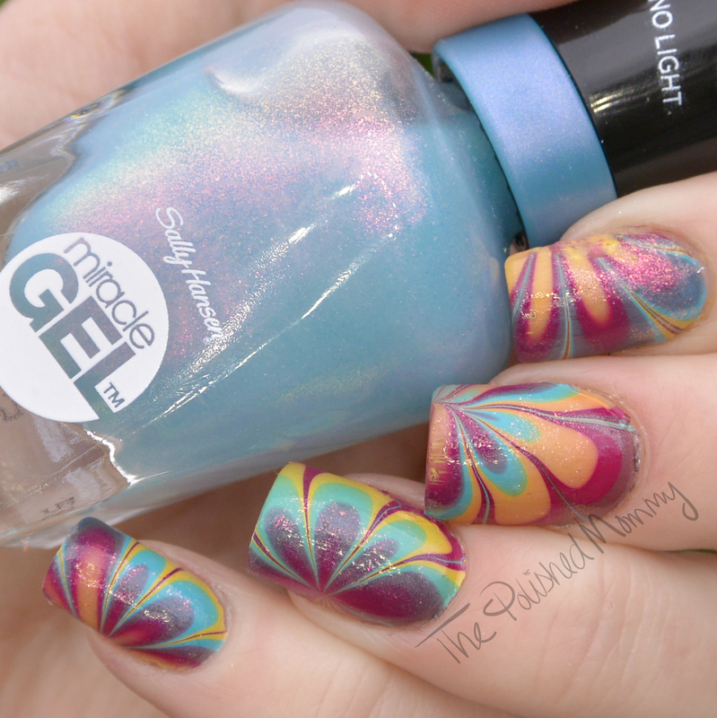 Sally Hansen The Digital Overload Collection nail art by The Polished Mommy