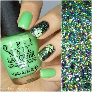 Happy St. Patrick's Day! nail art by barbrafeszyn