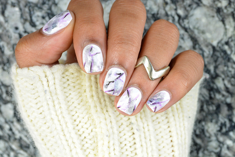 Hand Painted Marble Nail Art By Fatimah Nailpolis Museum Of Nail Art