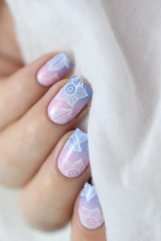 Pantone Spring nail art by Marine Loves Polish
