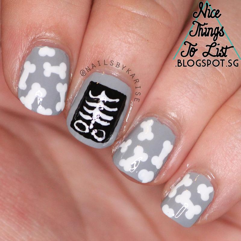 X-ray Nail Art nail art by Karise Tan