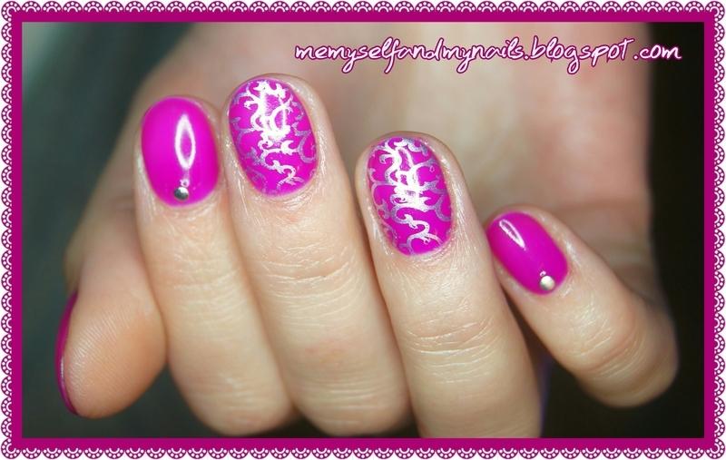 Mardi gras nail art by ELIZA OK-W