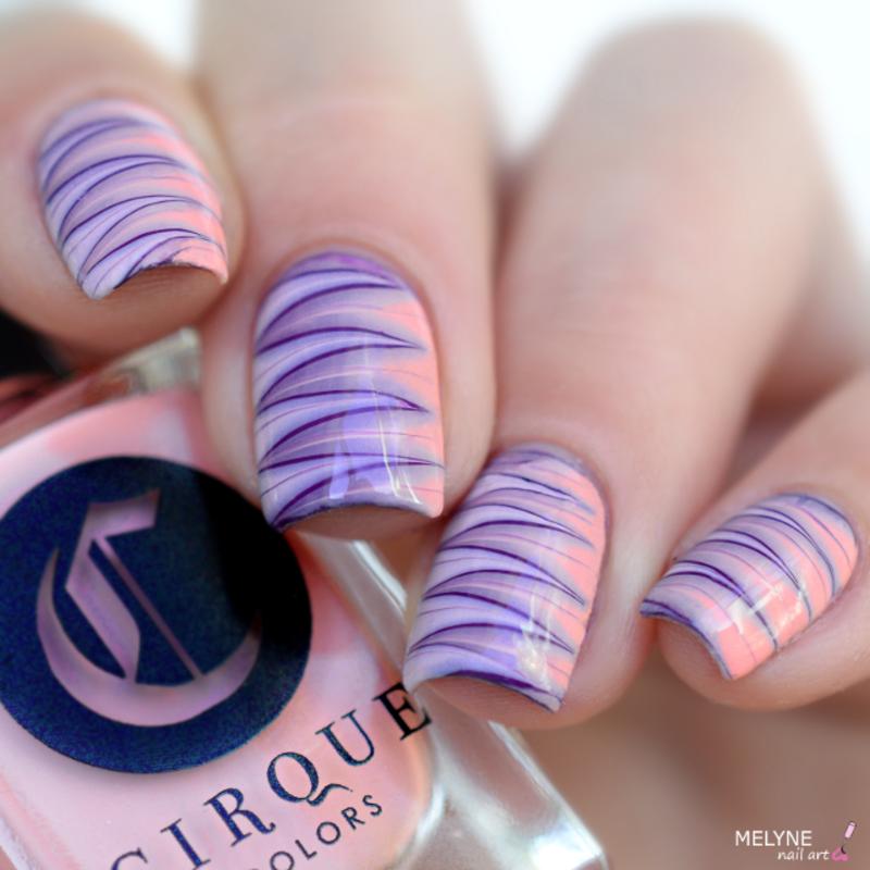 Dry marble nails nail art by melyne nailart