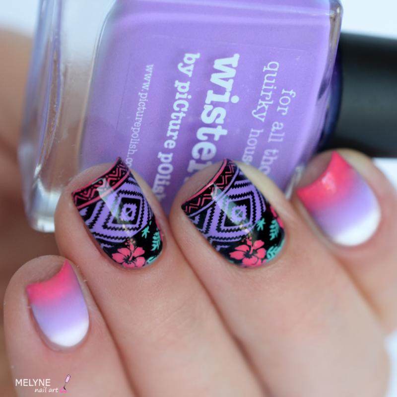 tropical nails nail art by melyne nailart