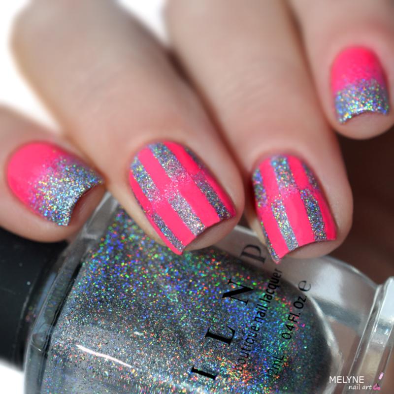reciprocal gradient nail art by melyne nailart