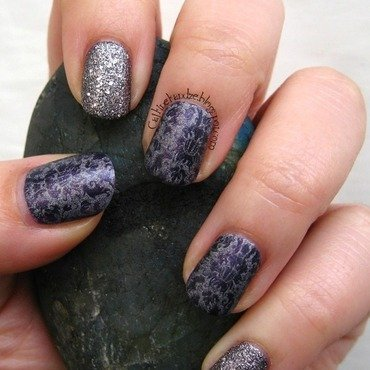 Matching Manicures - Purple nail art by Vedrana Brankovic