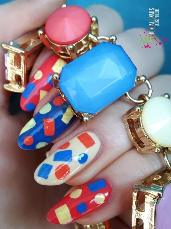 Geometric nail art by Julia Friedel