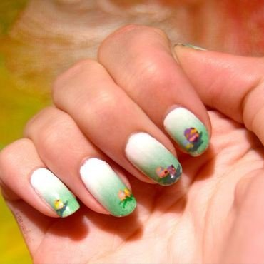 Easter Eggs nail art by i-am-nail-art