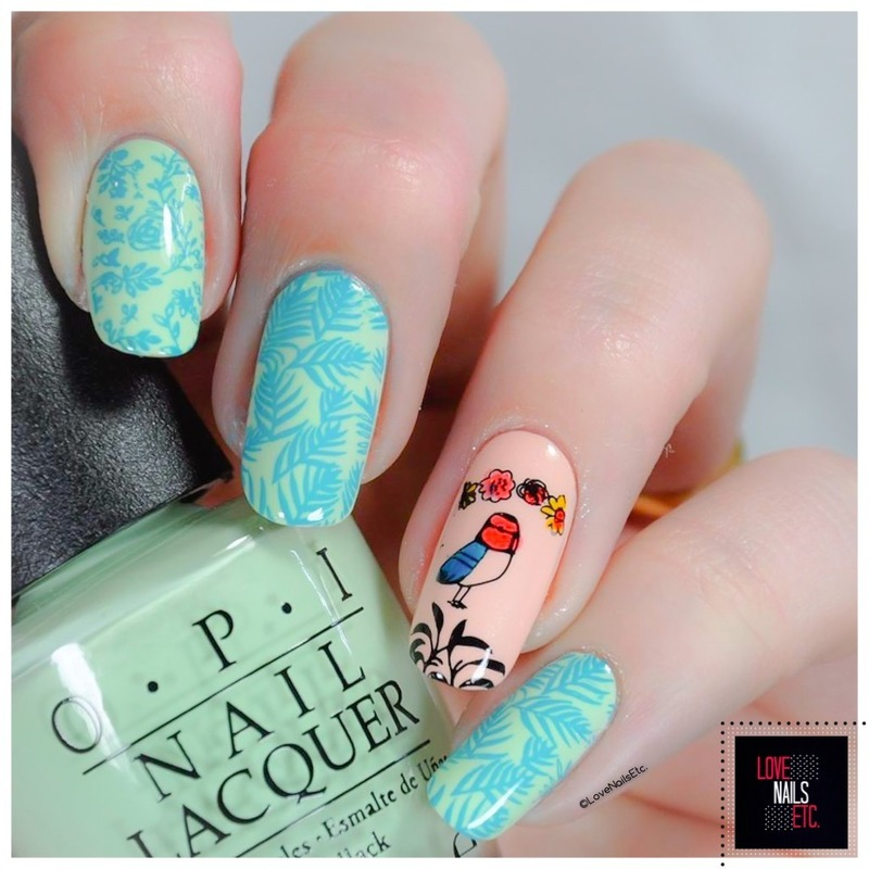 Spring! nail art by Love Nails Etc