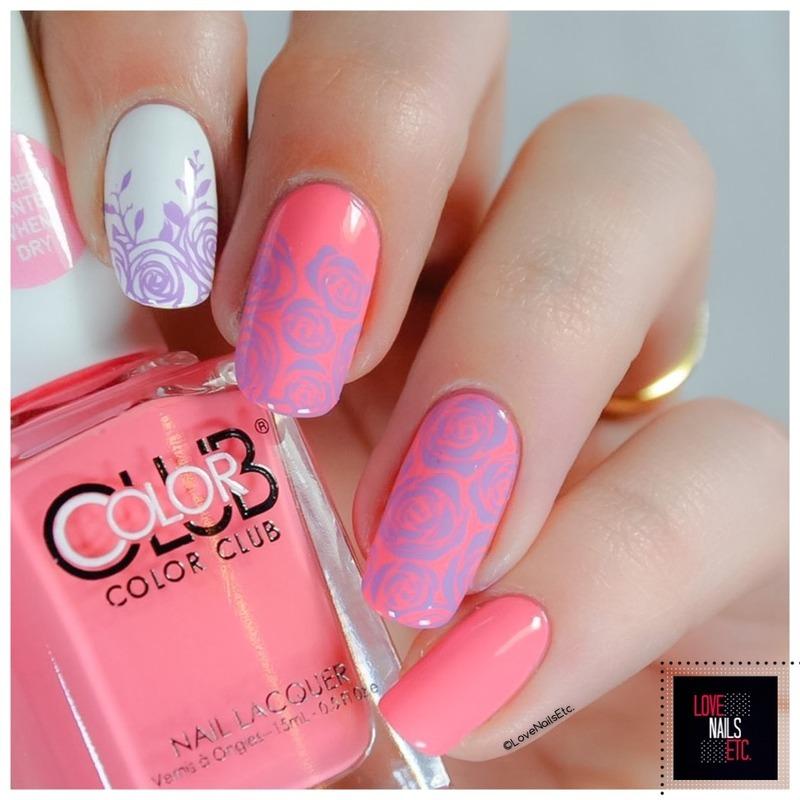 Roses nail art by Love Nails Etc