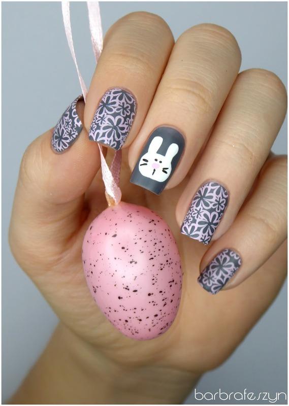 Easter bunny nail art by barbrafeszyn