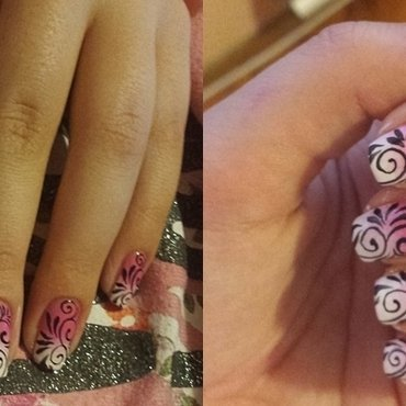 On wednesday we wear pink  nail art by Natalia D.