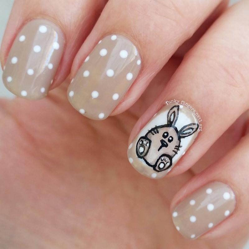 Easter bunny nails nail art by Funky fingers nail art - Nailpolis ...