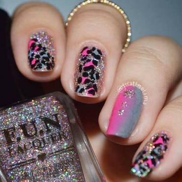 Pink Leopard nail art by ℐustine