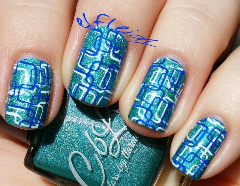 Bold geometrics nail art by Jenette Maitland-Tomblin