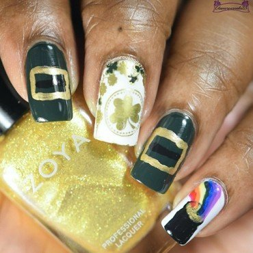 WNAC March 2016: Luck Of The Irish nail art by glamorousnails23