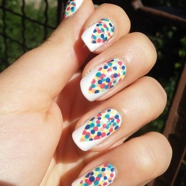 colorful dots nail art by irenek