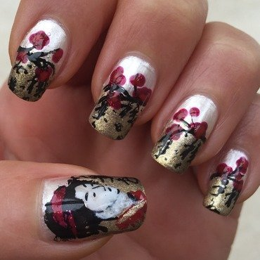 Geisha with Plum Blossoms nail art by Idreaminpolish