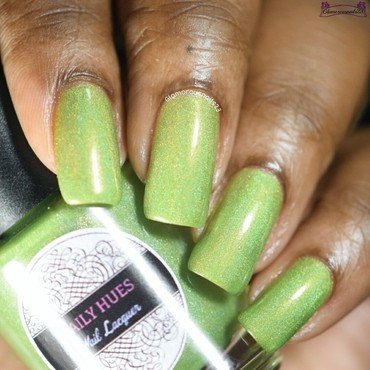 Daily Hues Nail Lacquer Green Machine Swatch by glamorousnails23