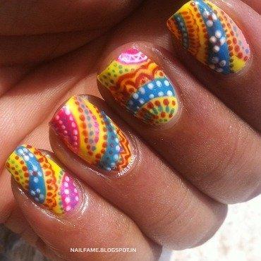 FABRIC PRINT  nail art by Nailfame