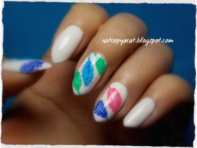Cheerful freehand. nail art by notcopyacat
