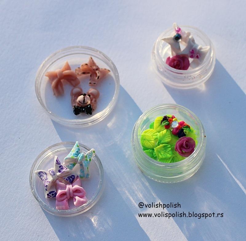 Handmade acrylic nailcharms nail art by Volish Polish