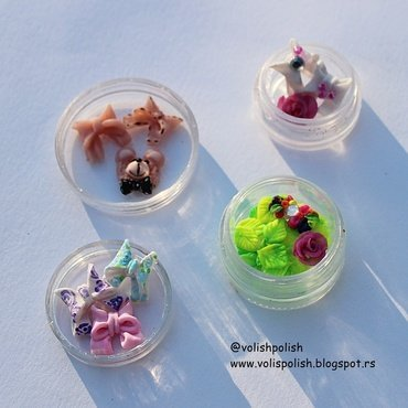 Handmade acrylic nailcharms nail art by Volish Polish
