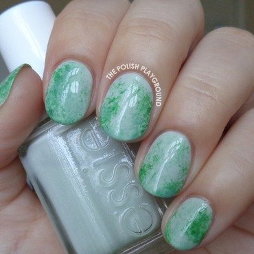 Chinese Jade Stone Inspired Nail Art nail art by Lisa N