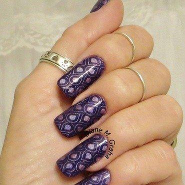 Purple Design nail art by PolishSickness