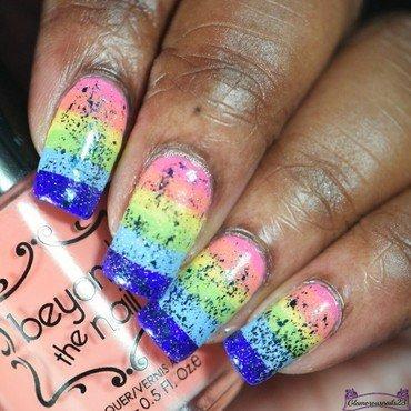 WNAC March 2016: Unicorn  nail art by glamorousnails23