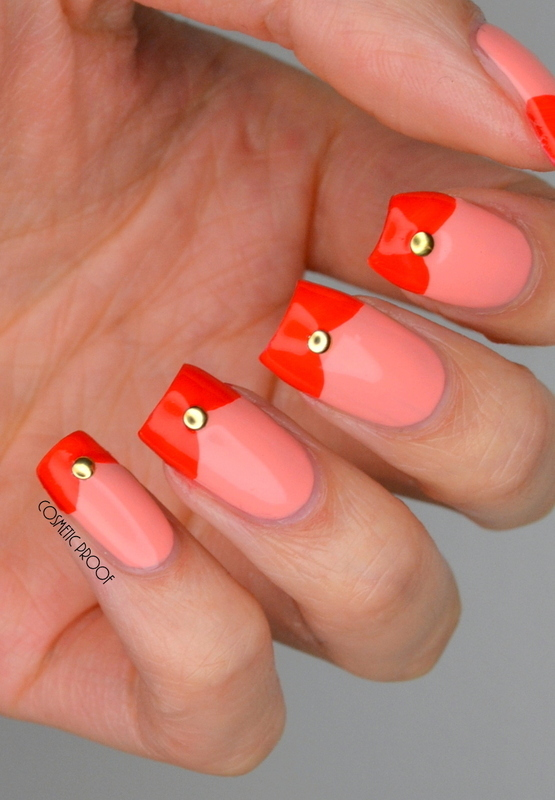 Coral Fishtails nail art by Jayne