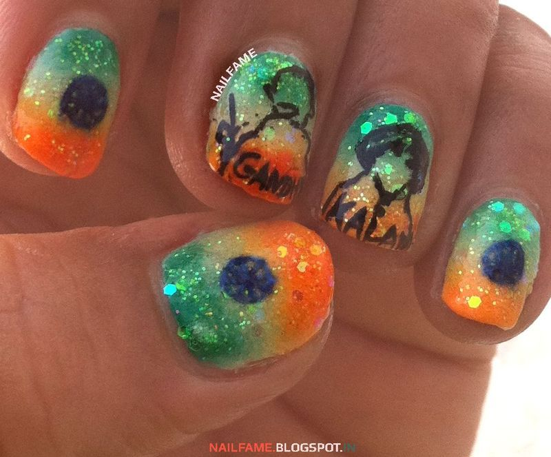 INDEPENDENCE DAY  nail art by Nailfame