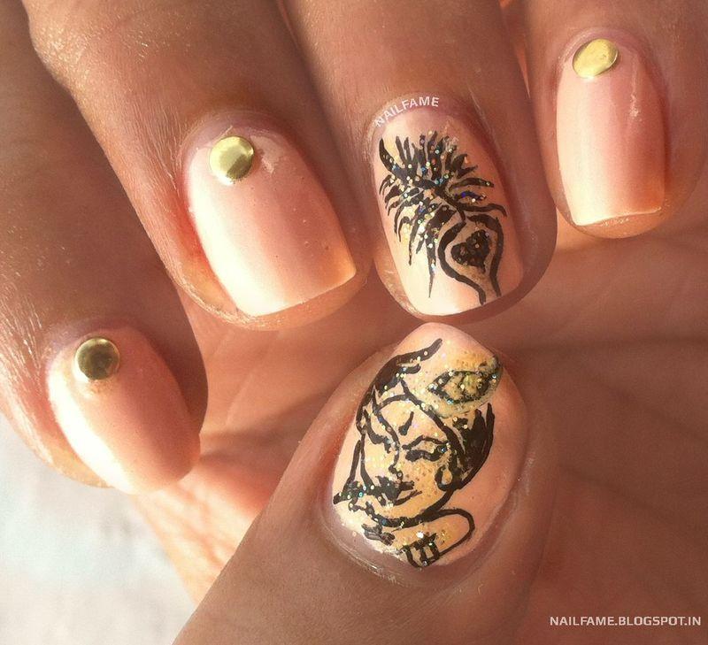 JANMASTHAMI SPECIAL NAILART nail art by Nailfame