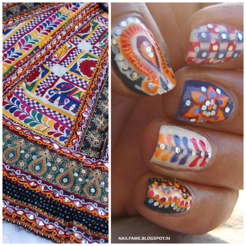 NAVRATRI SPECIAL NAILART nail art by Nailfame