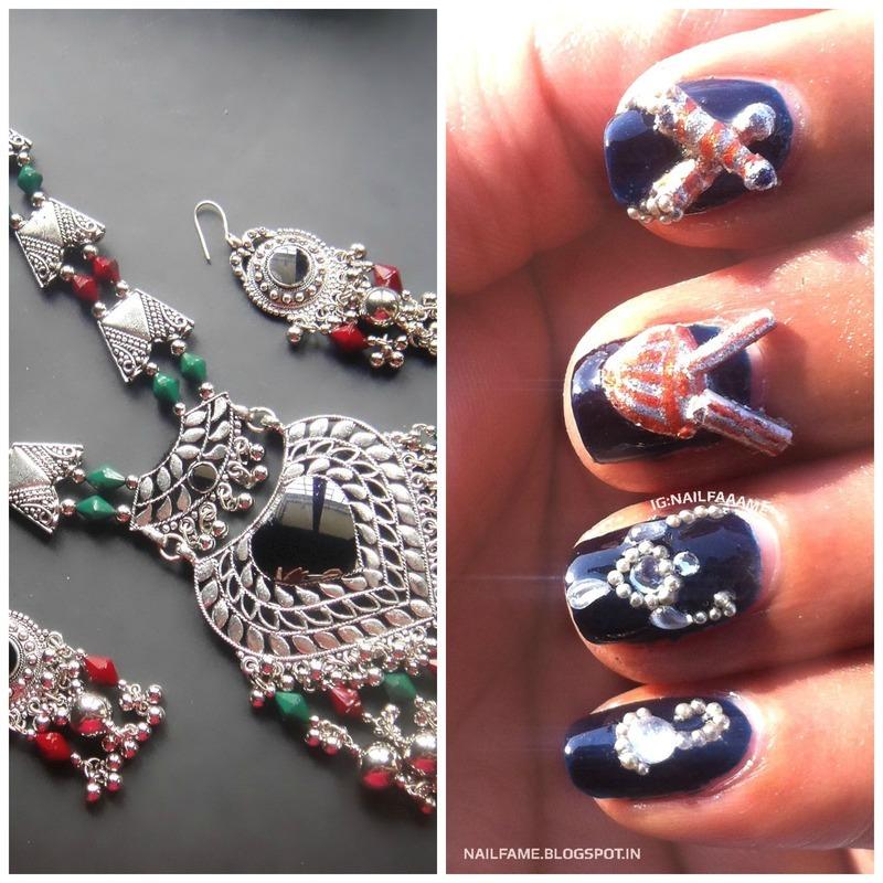 3D Nailart nail art by Nailfame