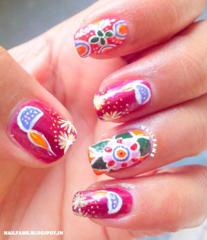 RANGOLI NAILART nail art by Nailfame