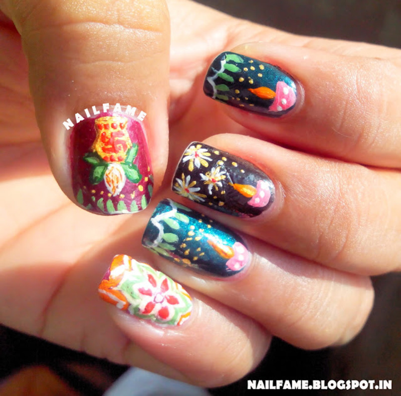 DIWALI NAILS nail art by Nailfame