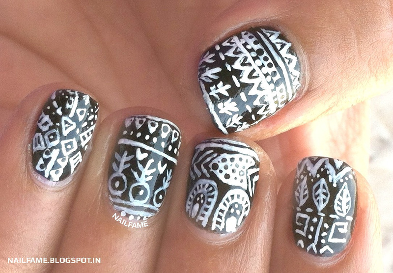 TRIBAL NAILS nail art by Nailfame