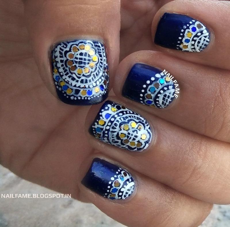 HEENA MANICURE nail art by Nailfame