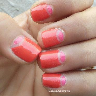 HALF MOON NAILS nail art by Nailfame