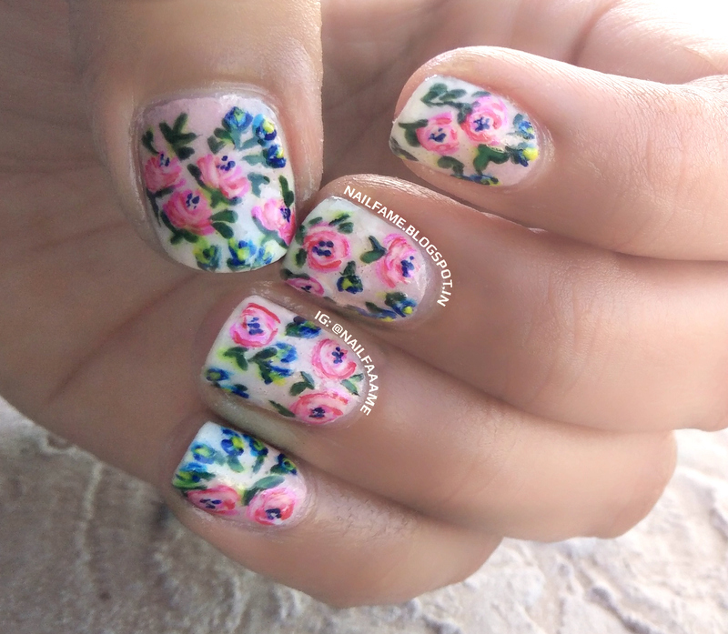 SPRING ROSES nail art by Nailfame