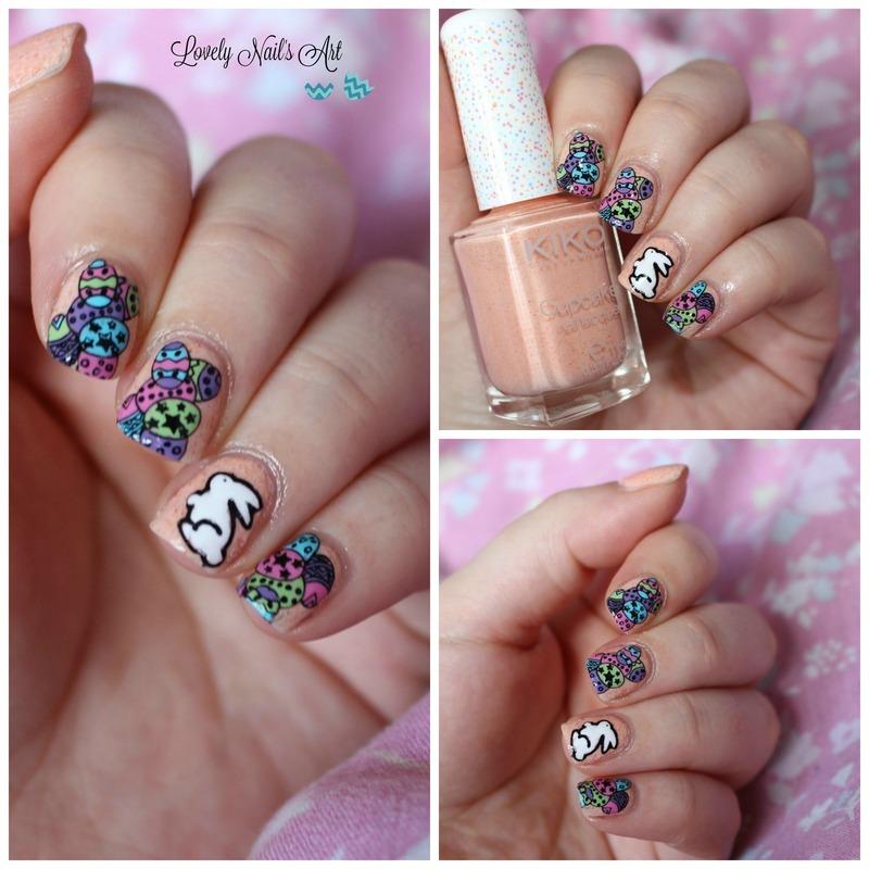 Nail art stamping easter nail art by Lovely Nail's  Art