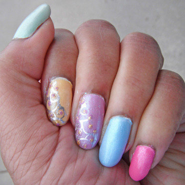 Spring Fling Nails nail art by Jackie Bodick