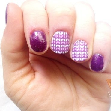 Knit nails nail art by GepeNails