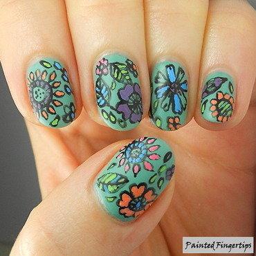 Floral nail art thumb370f