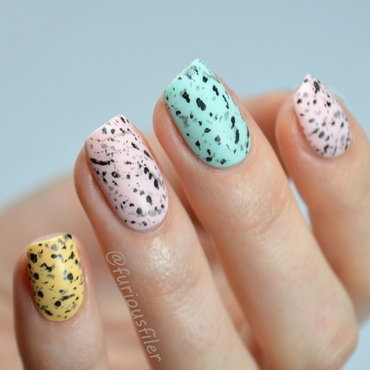 Speckled Egg nail art by Furious Filer