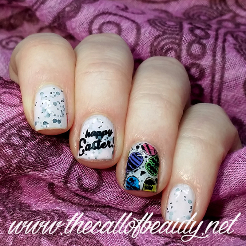 Happy Easter nail art by The Call of Beauty