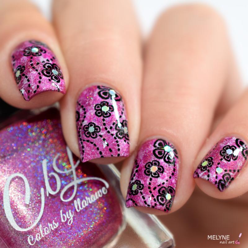 Sponge nails and stamping nail art by melyne nailart