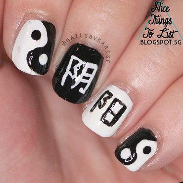 A2z challenge ying yang nail art thumb370f