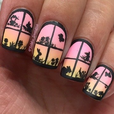 Easter's Outside! nail art by JMura_Designs
